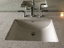 Moen Ashville Sink Faucet by American Standard Studio Under Mount Sink With Delta Lahara Faucet
