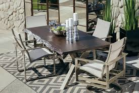 Mathis Brothers Patio Furniture by Castelle Park Place Rectangular Dining Table Mathis Brothers