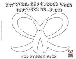 Red Ribbon Coloring Pages