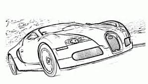 Bugatti Veyron Luxury Cars Coloring Pages