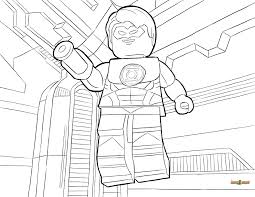 LEGO Green Lantern Coloring Page Printable Sheet In