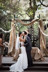 Romantic Burlap Wedding Arch 4