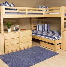 Low Loft Bed With Desk And Dresser by L Shaped Bunk Beds For Adults Latitudebrowser