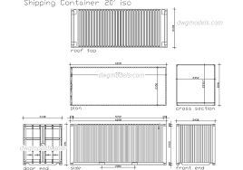 100 Free Shipping Container House Plans DWG Free CAD Blocks Download