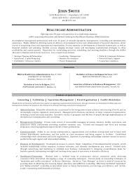 Resume Samples Healthcare Management