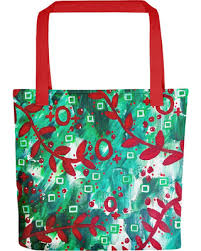 Abstract Christmas Tree Tote Bag