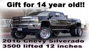 DAD GETS 14 YEAR OLD A 2016 CHEVY 3500 HD LIFTED 12 INCHES ON 24X12S ... Lifted Trucks For Sale In Salem Hart Motors Gmc Chevy Classic Scottsdale Are These Badass Metal Beasts Misunderstood Ford 2006 F250 King Ranch Lifted 8 Inches Carsponsorscom Truck Wallpapers Group 53 Best Of Twenty Images Old New Cars And Wicked Sounding 427 Alinum Smallblock V8 Racing Truck Rim Tire Fancing Httpwwelherocom The Of Sema 2014 70s Model Chevy C10 Pickup 4x4 Pinterest Used For Salt Lake City Provo Ut Watts Automotive
