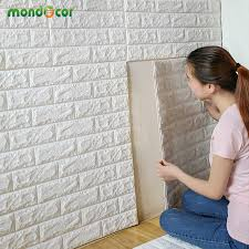 3D Wall Panels Peel And Stick Brick Wallpaper For Living Room Bedroom TV Background Decal Home