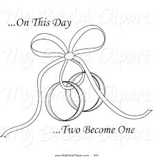 """Bridal Clipart of a Coloring Page of """" This Day Two Be e e"""" Text"""