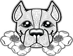 Puppy Dog Coloring Pages Printable Sheets Free Pitbull Adults Large Size