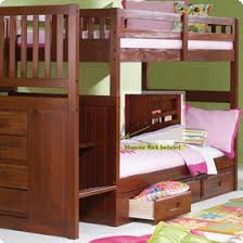 American Freight Bunk Beds by Discovery World Furniture Merlot Staircase Mission Bunk Bed Twin Twin