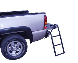 TAILGATE LADDER STEP Up Truck Pickup Folding Steel Heavy Duty Bed ...