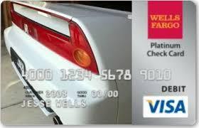 Wells Fargo custom design card