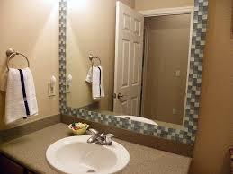 diy bathroom ideas easy mirror makeover and mirror mosaic