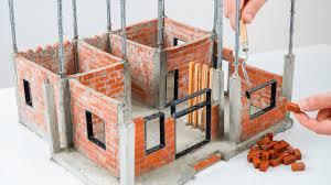 100 Brick Walls In Homes How To Make A Beautiful MINIHouse BRICK WALL BRICKLAYING Part 2
