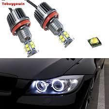 2pc 120w h8 led marker headlight bulbs replacement white led