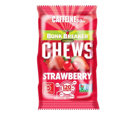 Bonk Breaker Energy Chews - Strawberry, 60g