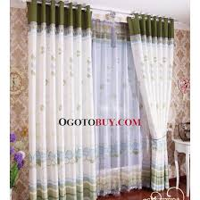 beautiful drapes and curtains in white and green multi colors buy