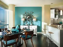 Blue Accent Wall Dining Room