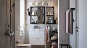 a small yet calm functional and organised bathroom ikea