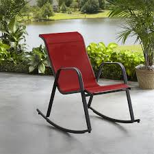 Essential Garden Bartlett Sling Rocking Chair - Red | Shop ... Charleston Acacia Outdoor Rocking Chair Soon To Be Discontinued Ringrocker K086rd Durable Red Childs Wooden Chairporch Rocker Indoor Or Suitable For 48 Years Old Beautiful Tall Patio Chairs Folding Foldable Fniture Antique Design Ideas With Personalized Kids Keepsake 3 In White And Blue Color Giantex Wood Porch 100 Natural Solid Deck Backyard Living Room Rattan Armchair With Cushions Adams Manufacturing Resin Big Easy Crp Products Generations Adirondack Liberty Garden St Martin Metal 1950s Vintage Childrens
