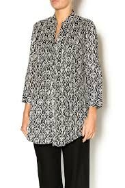 rock flower paper pintuck cotton tunic from dallas by bradbury