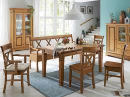 sitzgruppe florenz 1 esstisch 180 cm 1 truhenbank 2 stühle mit und 2 stühle ohne armlehne massiv