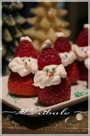 recette de dessert pour noel fraises en père noël recette ptitchef