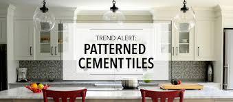 trend alert patterned cement tiles kitchen bath trends