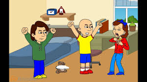 caillou s mom destroy caillou s teddy bear and gets grounded