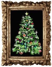 Glitter Christmas Tree In Frame