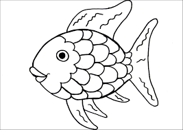 Rainbow Fish Coloring Page For