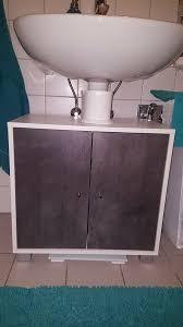 badezimmer möbel set betonoptik grau hochschrank unterschrank