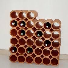 range bouteille en brique casier penez herman 3 bouteilles terre cuite plan it