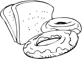 Slices Of Bread And Sweets Food Coloring Page