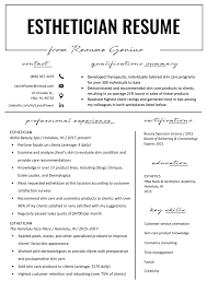 Esthetician Resume Example & Writing Tips | Resume Genius Resumegenius Reviews 272 Of Resumegeniuscom Sitejabber Mobile Farmers Market Routes Set To Resume In Richmond San Pablo Resume Samples Housekeeping Supervisor Valid Objective Genius Review Youtube Euronaidnl Hospality Sample Writing Guide C I M Technologies Jeedimetla Computer Traing Institutes For Template For Restaurant New Manager Creating The Best By Next Level Staffing We Will Now Battle Youll Be Up This Time Sure Rgo