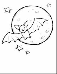 Great Cute Halloween Bat Coloring Pages With Page