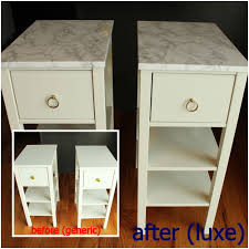 Tool Box Dresser Diy by Diy Nightstand Upgrade With Marble Contact Paper
