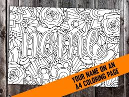 Custom Coloring Page From Your Name