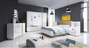schlafzimmer set kleiderschrank doppelbett nachttisch kommode 2 farben