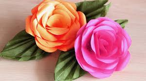3 Easy Steps To Make Paper Rose Flower At Home