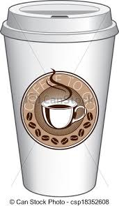 Coffee To Go Cup Design With Steami Ilration Of A