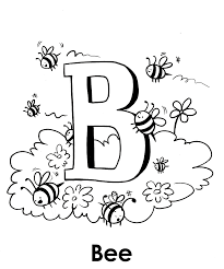 Alphabet Coloring Pages Bee Animal