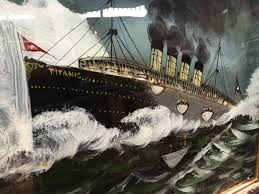 When Did The Lusitania Sink by 2 Vintage Paintings By Frank Ross U0027the Sinking Of The Titanic