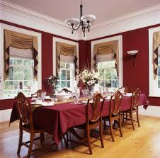 Amazing Idea Red Dining Room Curtains Sleek Laminate Floor Mixed With Also On Home Design