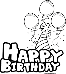 Birthday black and white happy birthday clipart black and white