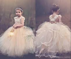 cute ball gown flower girls dresses 2016 jewel sleeveless lace up