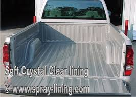 Clear Spray Truck Bed Liner and Auto Body Protection