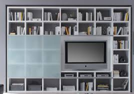 toro bücherregal bibliothek schiebetür regal mit tv fach