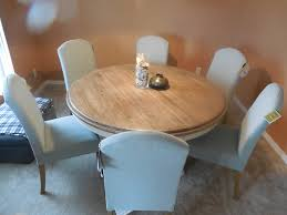 Excellent 60 Round Dining Table With Parson Chairs Parsons Style Room Designs